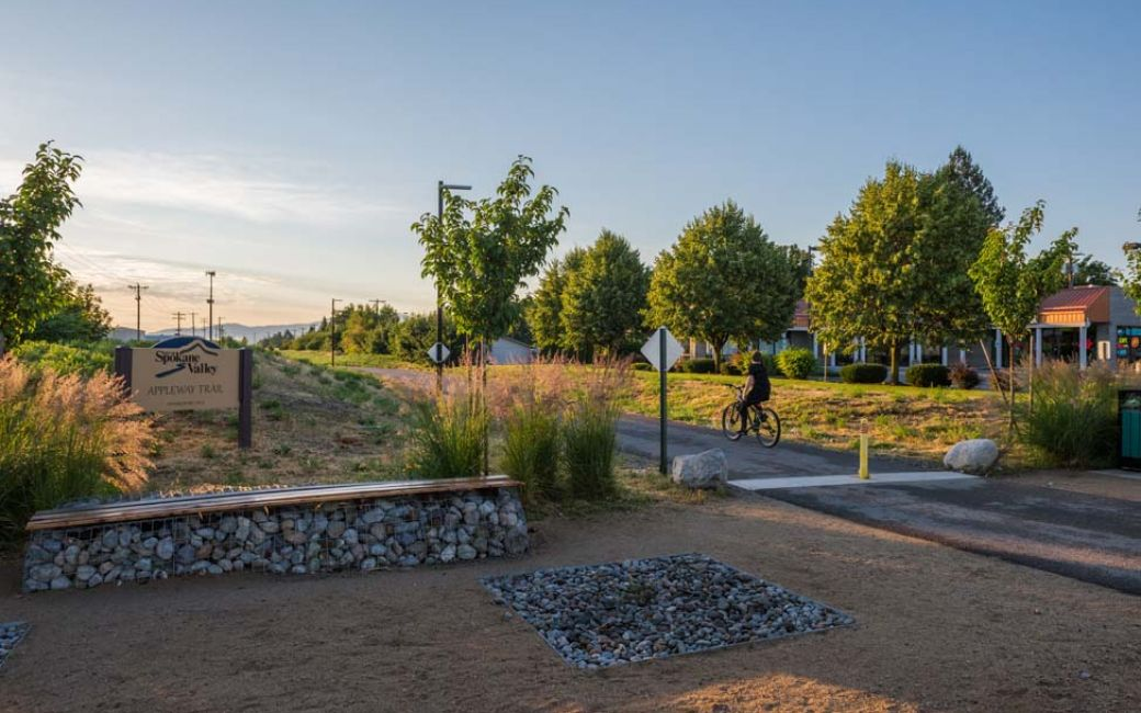 The 5.1 mile Appleway Trail in the heart of Spokane Valley.